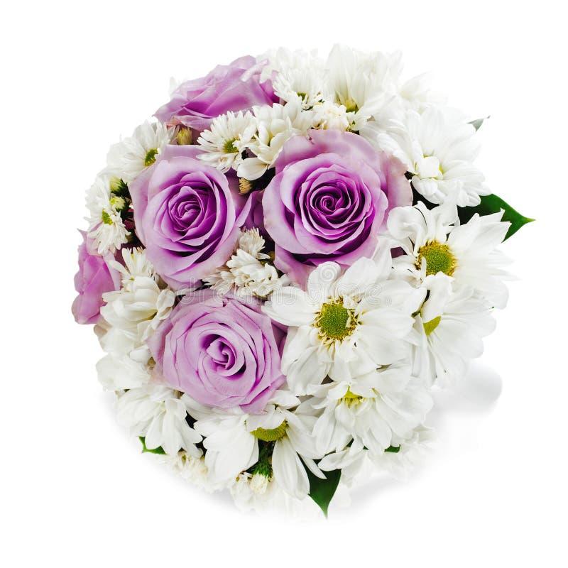 Färgrik blommabukett som isoleras på vit bakgrund royaltyfri foto