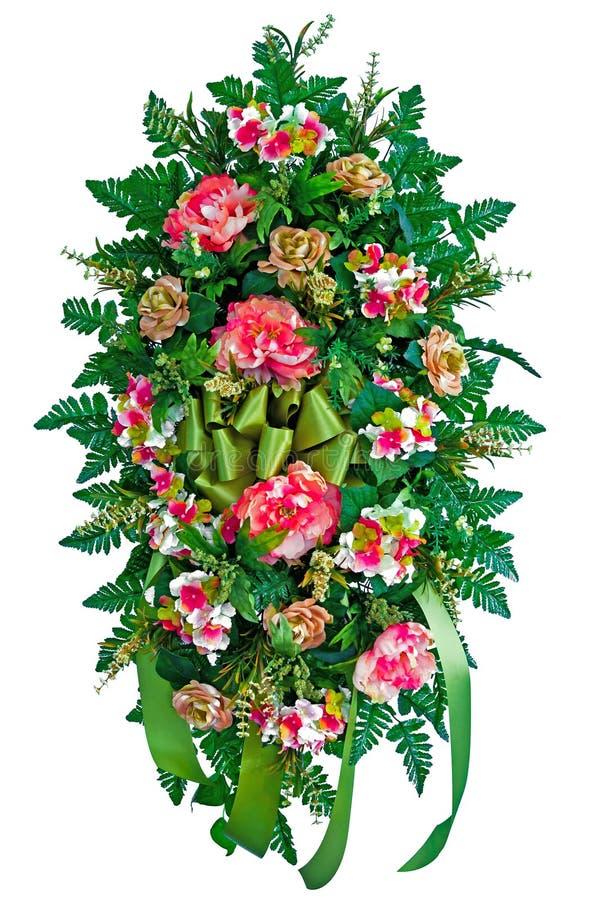 Färgrik blommakran royaltyfria bilder