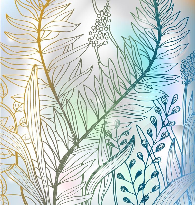 färgrik blommaromantiker för bakgrund royaltyfri illustrationer