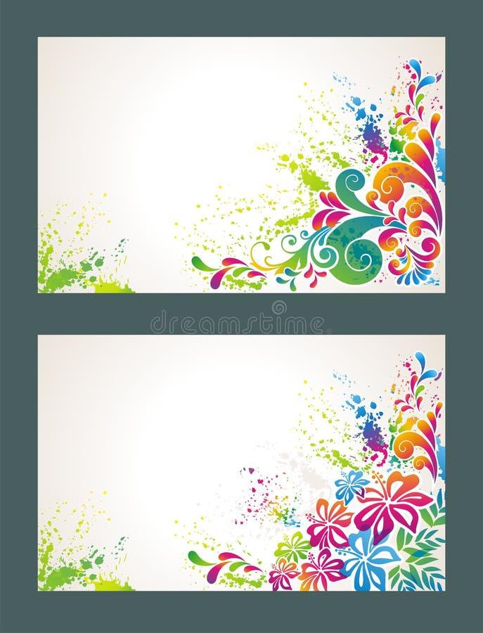 färgrik blommaset för bakgrund stock illustrationer