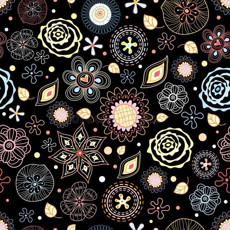 färgrik blommatextur stock illustrationer