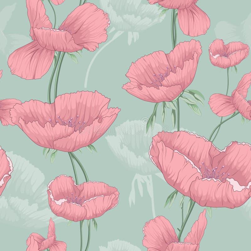 färgrik blommavektor stock illustrationer