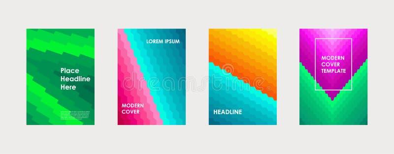 Färgrik bok eller företags mall för broschyrräkningsdesign vektor illustrationer
