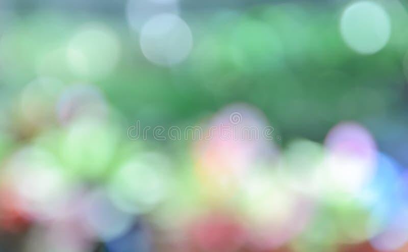 Färgrik Bokeh abstrakt begreppbakgrund royaltyfri foto