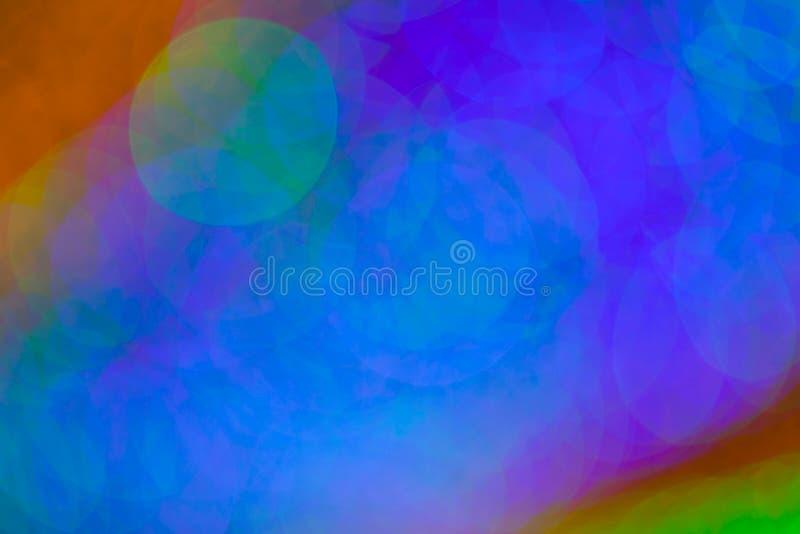 Färgrik bokeh cirklar defocused ljus royaltyfria foton