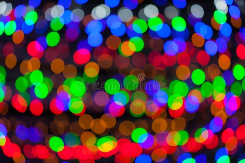 Färgrik bokeh cirklar defocused ljus arkivfoto