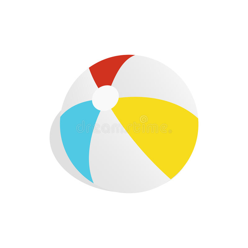 Färgrik bollsymbol, isometrisk stil 3d vektor illustrationer