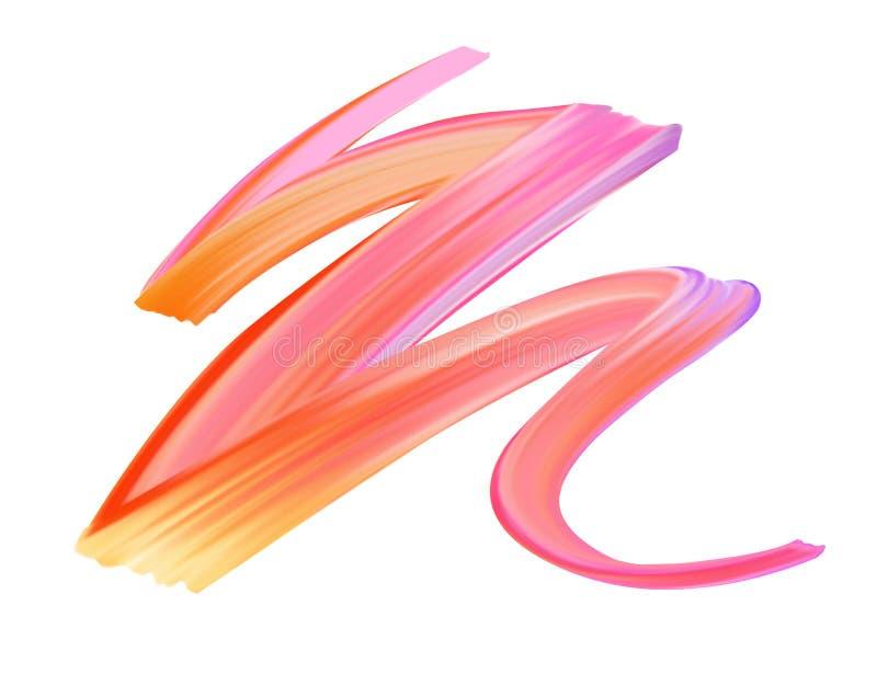 Färgrik borsteslaglängdlinje stock illustrationer