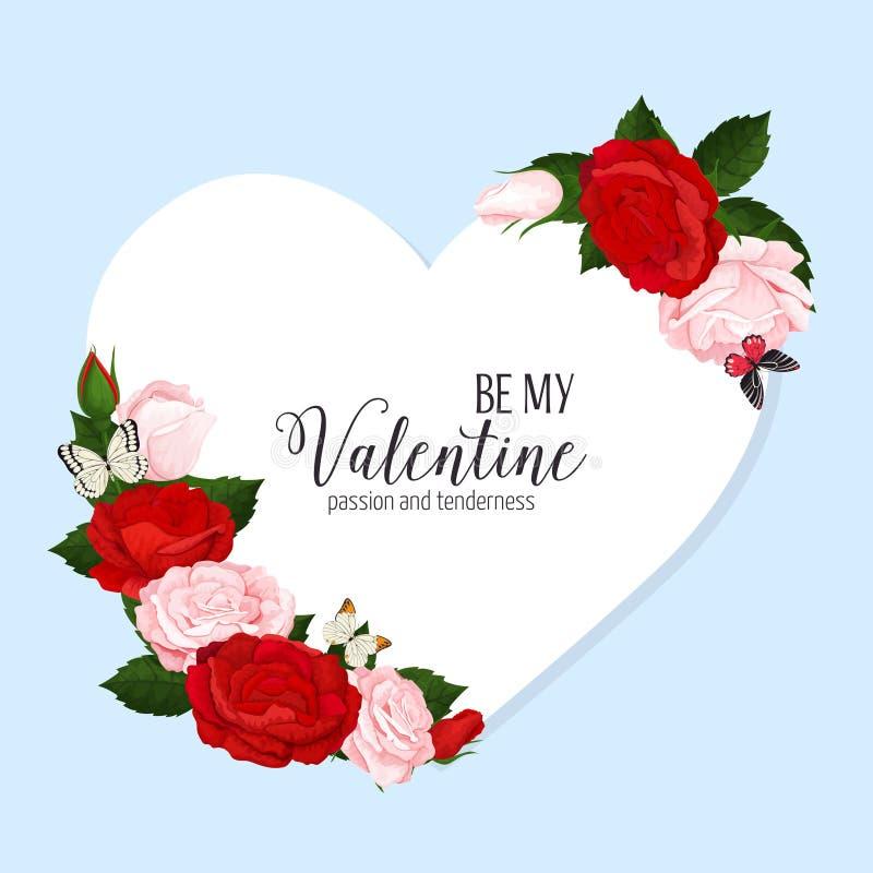Färgrik bröllopkrans med rosor, kamomill och lavendel Blom- samling för vektor royaltyfri bild