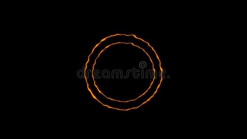 Färgrik cirkelenergibeståndsdel Texturbakgrundsdesign stock illustrationer