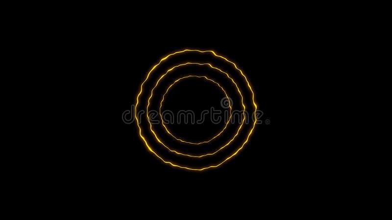 Färgrik cirkelenergibeståndsdel Texturbakgrundsdesign vektor illustrationer