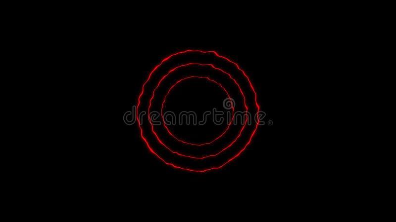 Färgrik cirkelenergibeståndsdel Texturbakgrundsdesign royaltyfri illustrationer