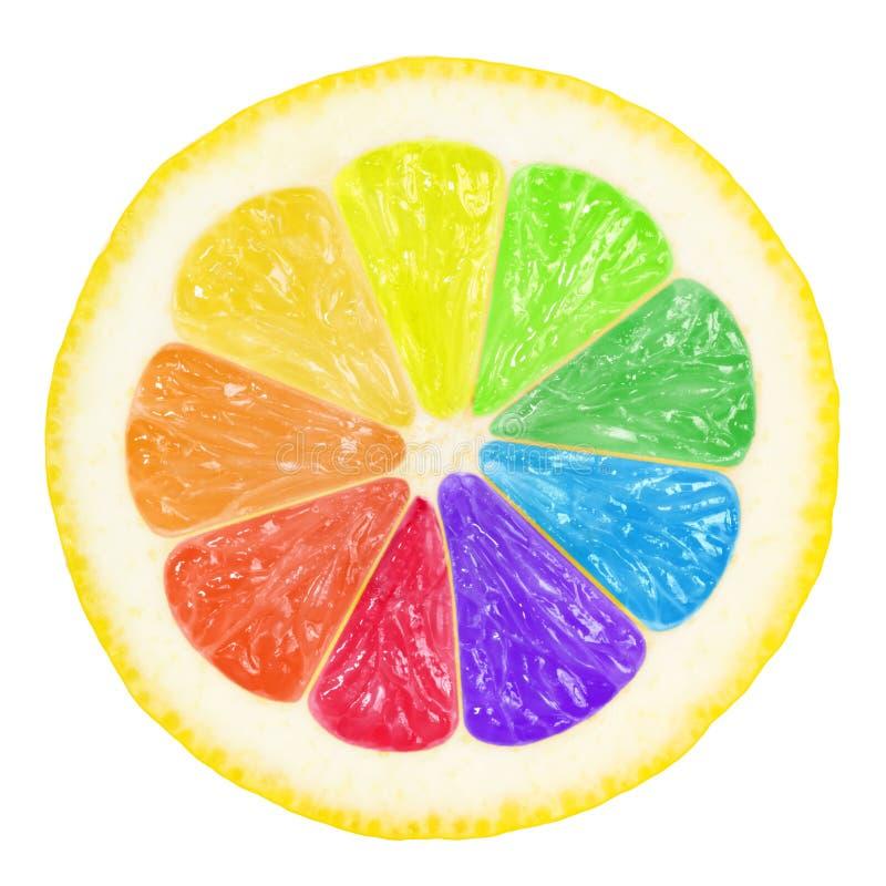 färgrik citron arkivbild