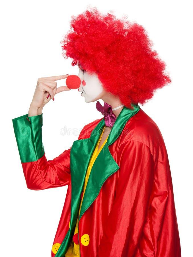 färgrik clown royaltyfri bild
