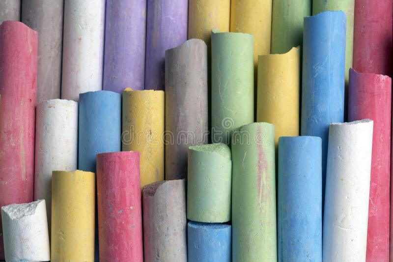 färgrik crayon royaltyfri bild