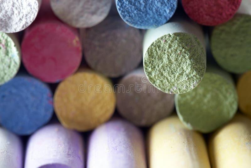 färgrik crayon royaltyfri fotografi