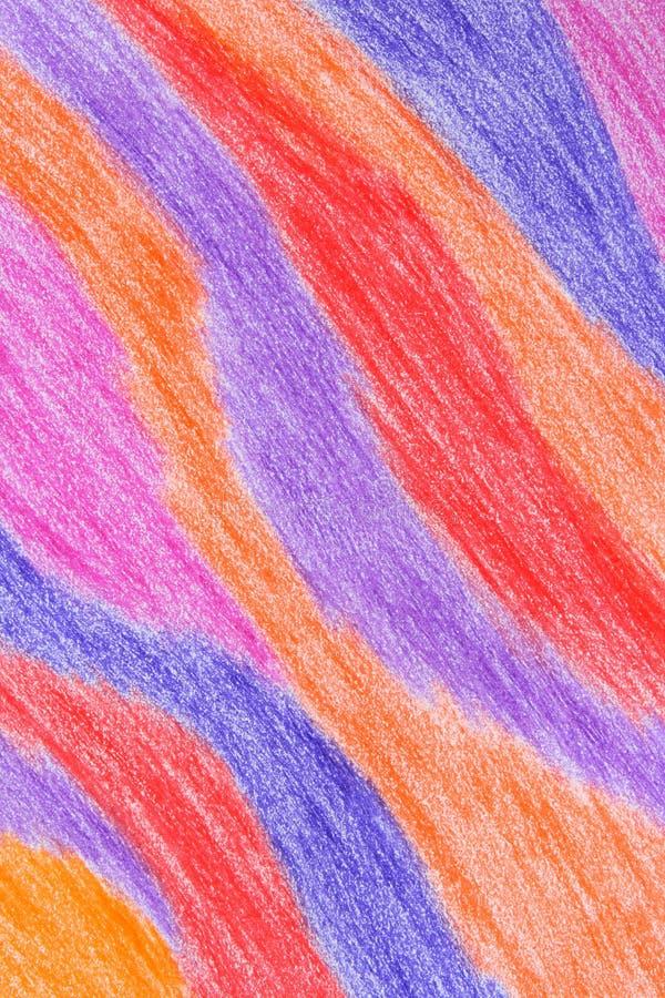 färgrik crayon för abstrakt bakgrund arkivfoto
