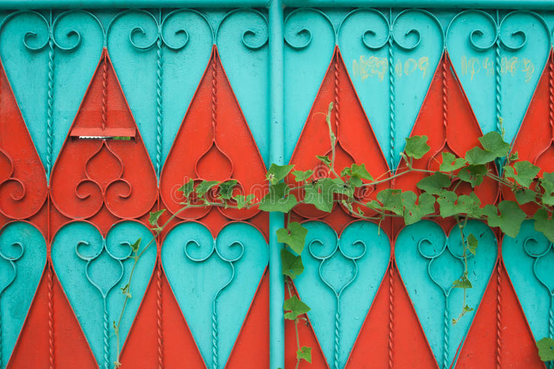färgrik dörr royaltyfria foton