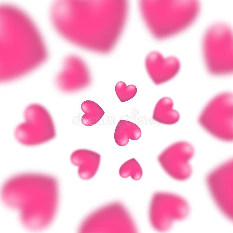 Färgrik 3d gjorde suddig hjärtabakgrund vektor illustrationer