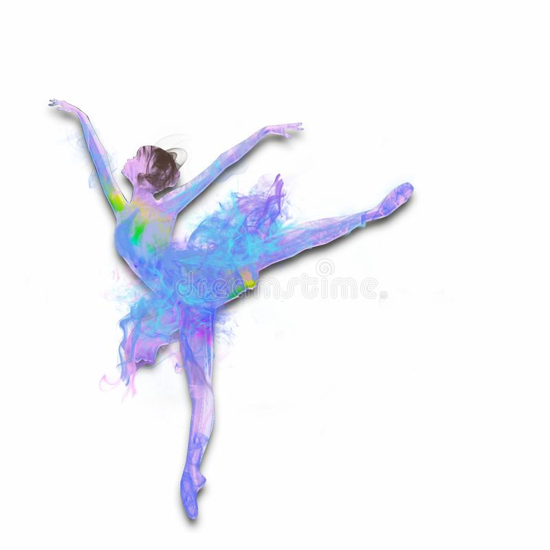 Färgrik dansa ballerina vektor illustrationer