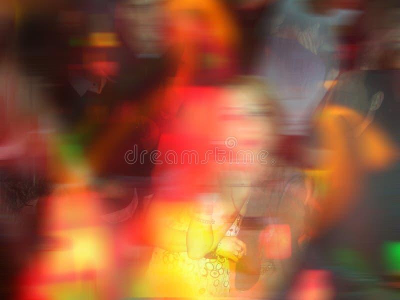 färgrik dator redigerat nattklubbfoto arkivfoto