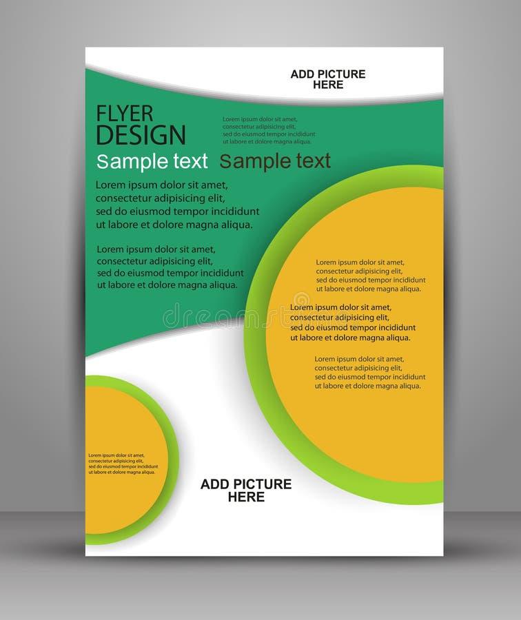 färgrik design för broschyr Reklambladmall för affär stock illustrationer