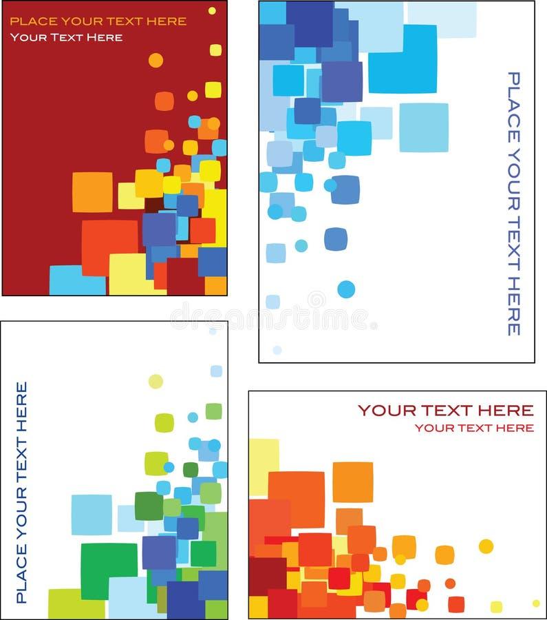 Färgrik design för mall för affärskort stock illustrationer