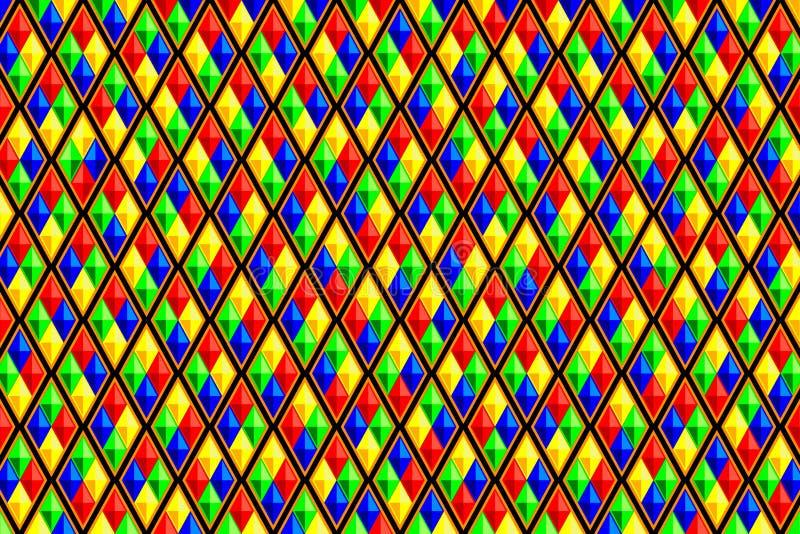 Färgrik diamant formad fyrkantmodell vektor illustrationer