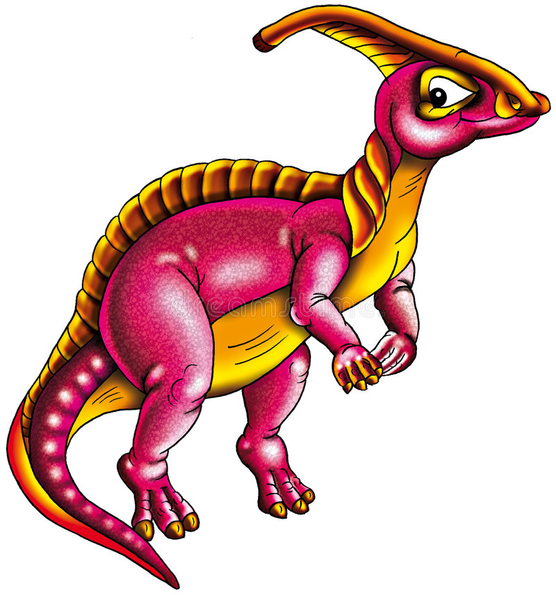 färgrik dinosaur royaltyfri illustrationer