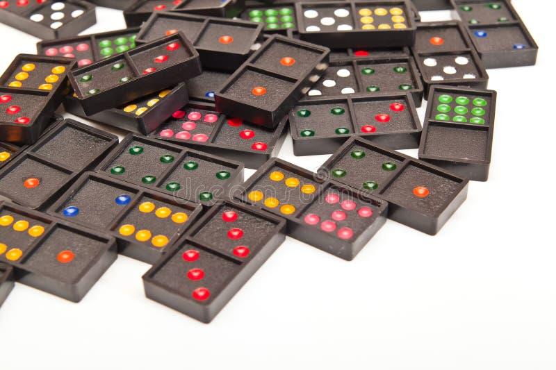 färgrik domino arkivbilder