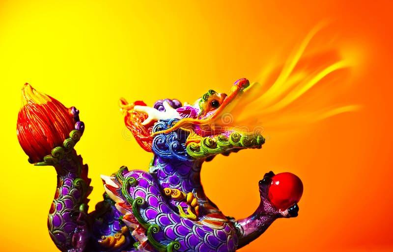Färgrik drake royaltyfri bild