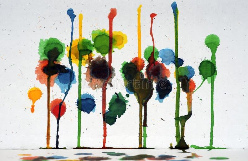 färgrik droppandemålarfärg för abstrakt konst royaltyfri foto