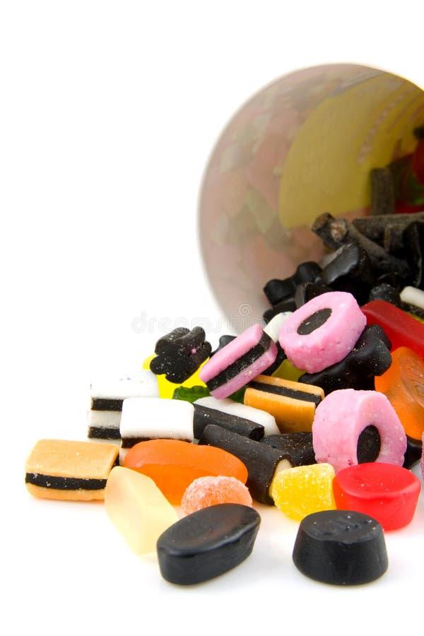 färgrik droppe för godis arkivfoto