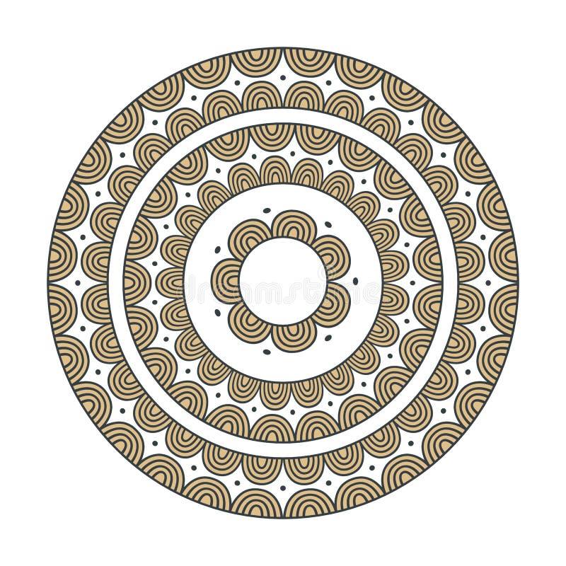 Färgrik etnisk mandala - dekorvektorbeståndsdel royaltyfri illustrationer