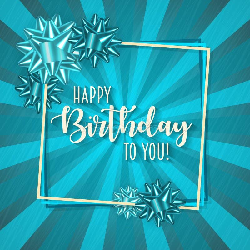 Färgrik födelsedagram med retro bakgrund för pilbåge och för tappning vektor illustrationer