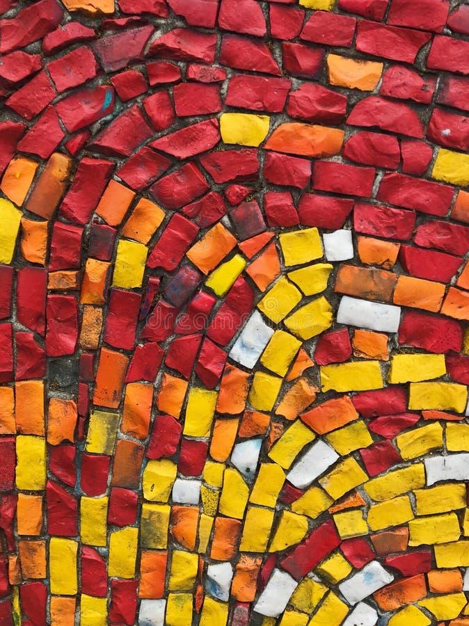 Färgrik fantastisk mosaiktextur royaltyfri bild
