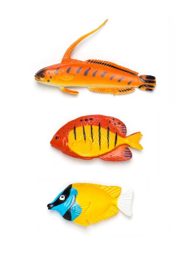 Färgrik fisk för plast- leksak royaltyfria foton