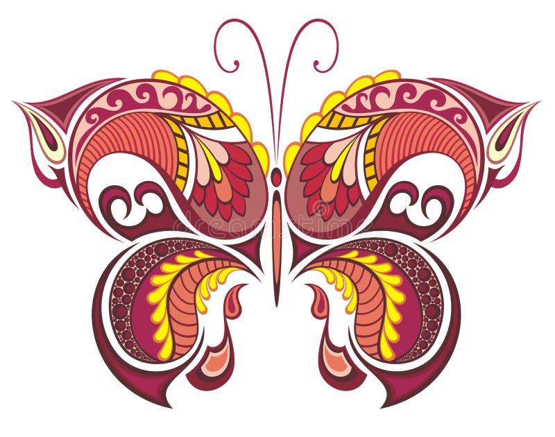 Färgrik fjäril. royaltyfri illustrationer