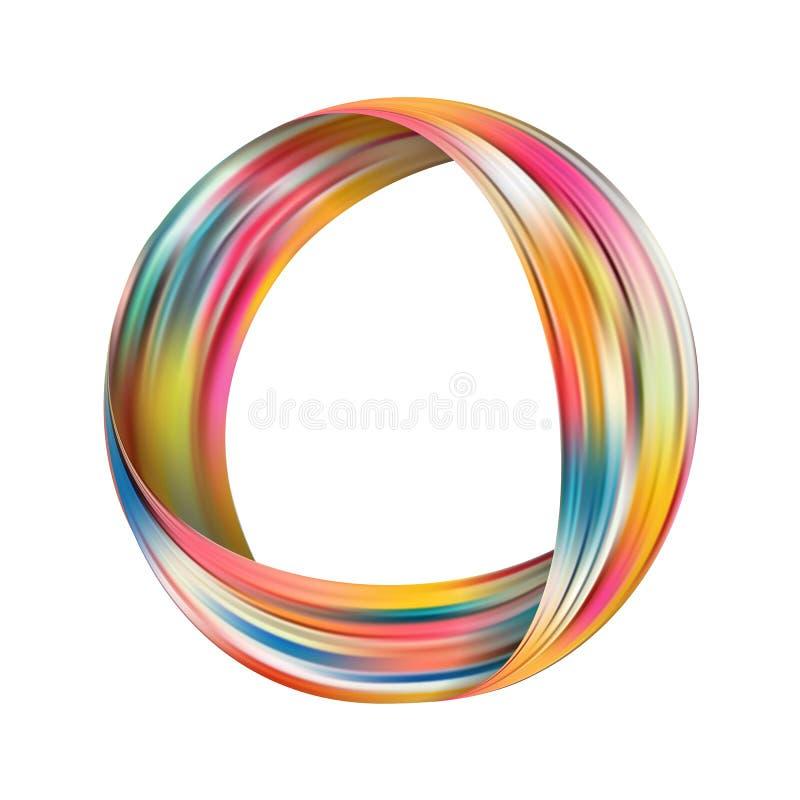 Färgrik flödesaffisch för cirkel Realistisk vågcirkel stock illustrationer