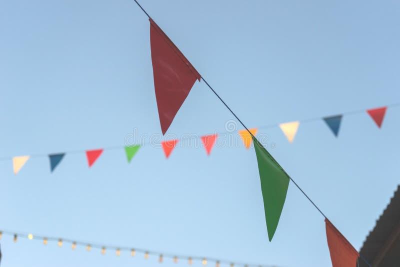 Färgrik flagga, begrepp Fastival royaltyfria foton