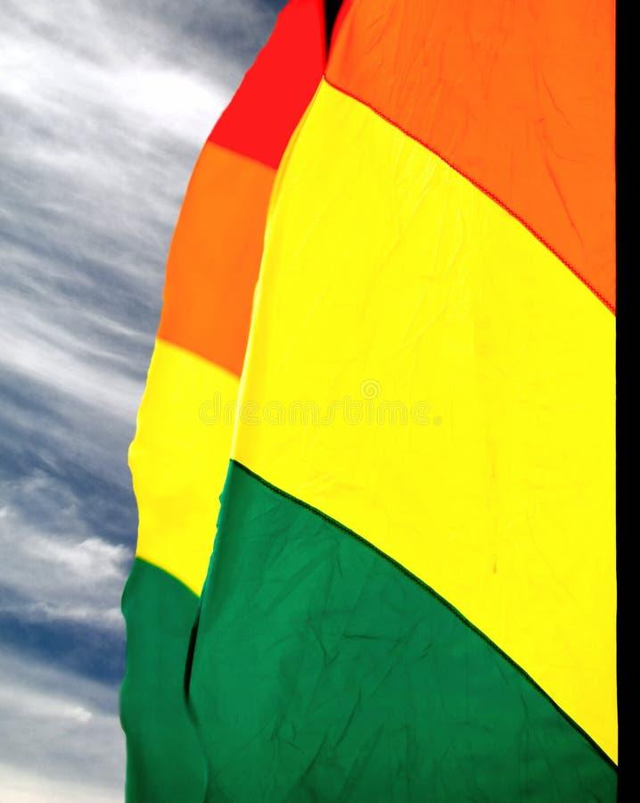 färgrik flaggawind arkivfoto