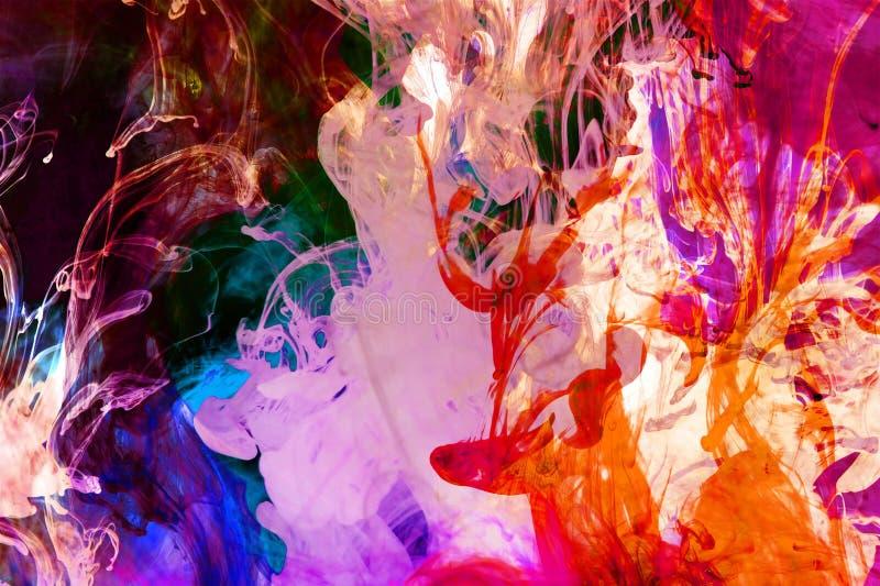 Färgrik Fluid fusion arkivfoton