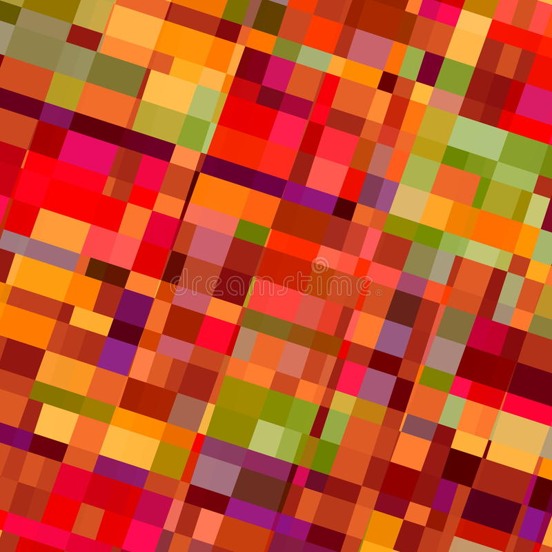 Färgrik formbakgrund Röda färger Tegelplattor för väggpapper Faktisk mång- askbild Utsmyckat exponeringsglas Plan yttersida klass stock illustrationer