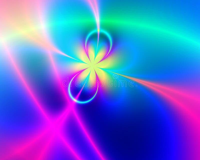 färgrik fractal royaltyfri illustrationer