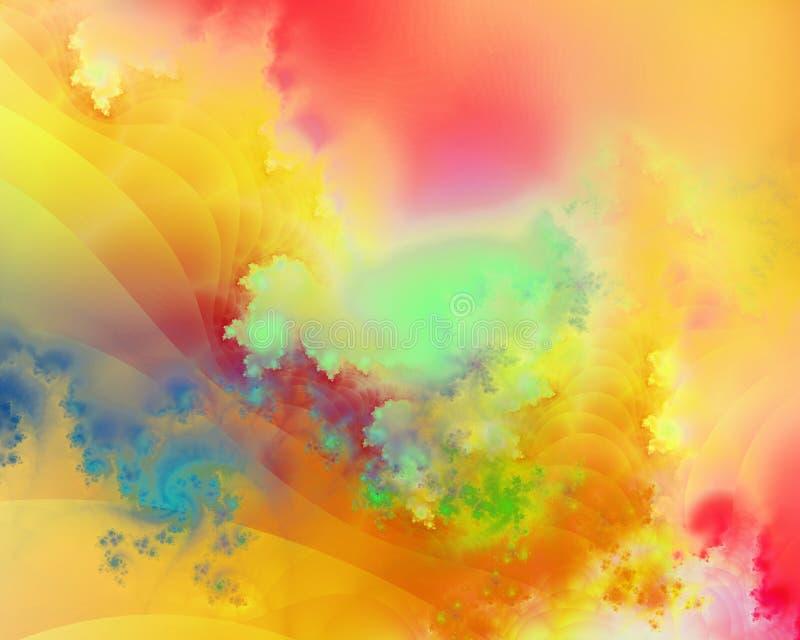 färgrik fractal vektor illustrationer