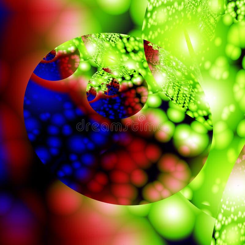 färgrik fractal för bakgrund stock illustrationer