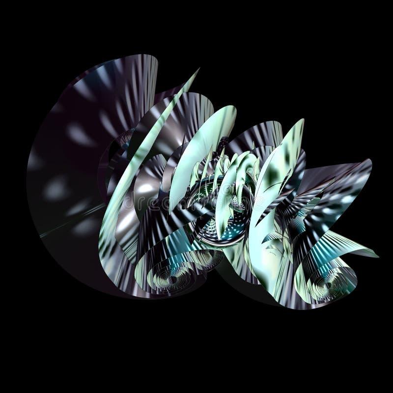 Färgrik Fractaldesign för abstrakt begrepp 3D vektor illustrationer