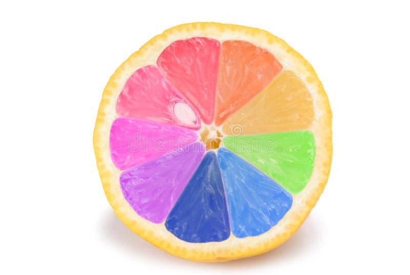 färgrik frukt isolerad orange arkivfoto