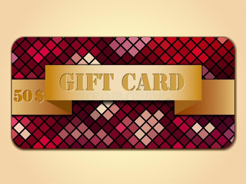 färgrik gåva för kort royaltyfri illustrationer