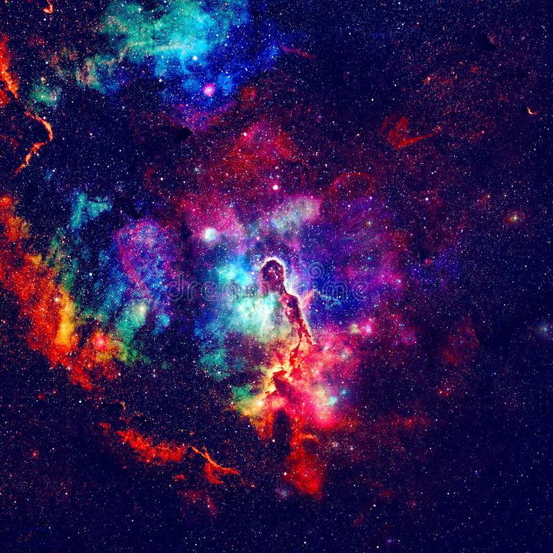Färgrik galax i yttre rymd royaltyfria foton